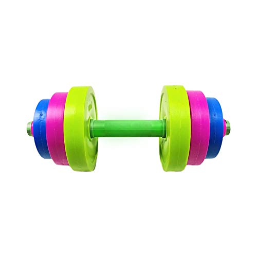 POHOVE - Set di giocattoli per bilancieri regolabili, con manubri regolabili, per bambini, per far finta di giocare, allenarsi per principianti, riempire con sabbia o acqua