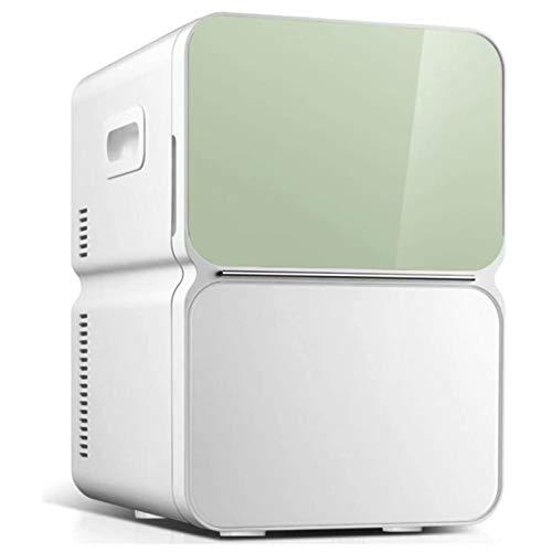 HALIGHT 22l Mini refrigerador automóvil, Mini refrigerador Doble Uso, refrigerador pequeño el Cuidado la Piel de Maquillaje, alimentación de AC/DC, 12 V / 220 V, para Dormitorio, automóvil, hogar