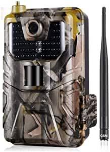 Lloow Wildlife-Kamera, 20MP 1080p Wildlife Trail Camera Foto Traps Nachtsicht 2G SMS MMS SMTP-E-Mail-E-Mail-Mobilfunk-Jagdkameras-Überwachung 2020
