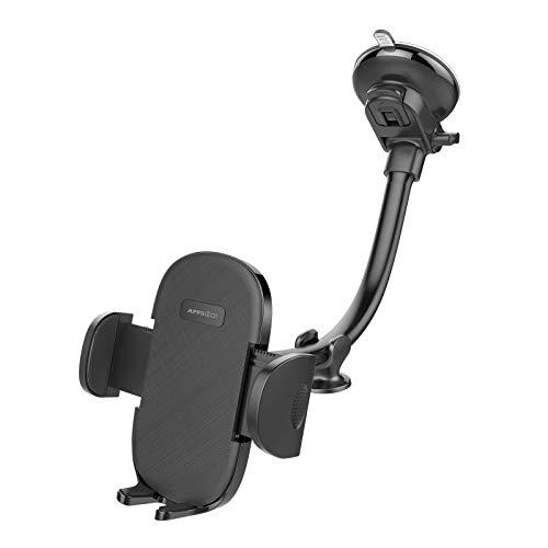 APPS2Car Smartphone Halterung Auto, Schwanenhals Handy Halterung Pkw, 360 Saugnapf Handy Halterung, 7 Zoll-Arm-Handy Halterung Auto, kompatibel für iPhone 11/11 Pro Max, XR, Samsung usw.