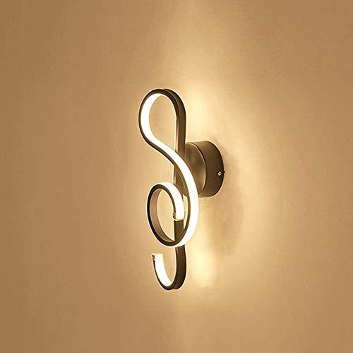 BESTPRVA Wall Sconce Iluminación Creativa Lámpara de Pared LED Moderna Demanda Decorativa Iluminación Corredor Café Cafetería Estudio Dormitorio Lámpara de Pared