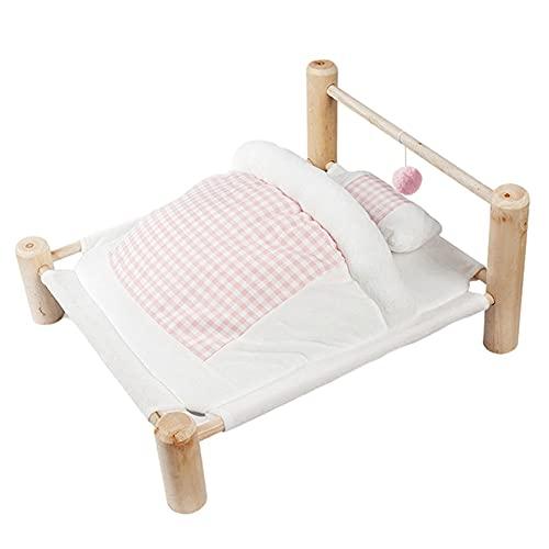 LEPSJGC Cats Nest Cats Bed Material de Madera Maciza Hamaca extraíble Lavable para Mascotas para Perros pequeños y Gatos Soporte Envío de la Gota (Color : B)