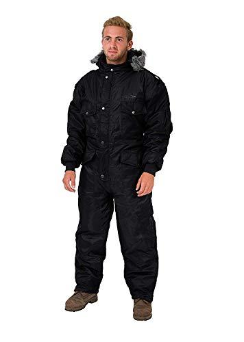 HAGOR Black IDF Snowsuit Winter Clothing Snow Ski Suit, Black, Size Medium