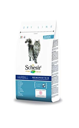Schesir Cat Adult Maintenance Hairball Huhn, Katzenfutter trocken für erwachsene Katzen, Beutel, 1.5 kg