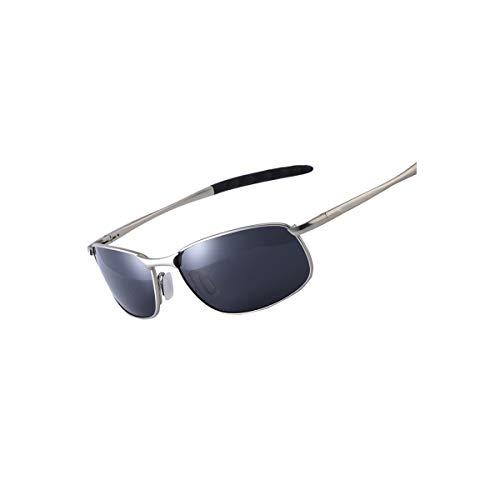Sunglasses NEW Polarized Sunglasses Men Brand Designer Small Lens Sunglass Men's Driving Sun Glasses Gafas Oculos De Sol UV400 Polarized lens silver blue