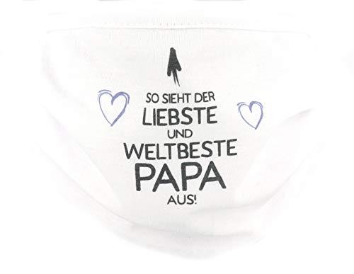 PICSonPAPER So sieht der liebste und weltbeste Papa aus, Community Maske Stoffmaske Mund-Nasen Maske Vatertags-Geschenk… (weltbeste Papa)