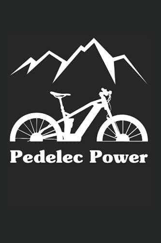 E-Bike Pedelec Power Bicycle Battery Mountain Bike Electric: 6x9 Notebook