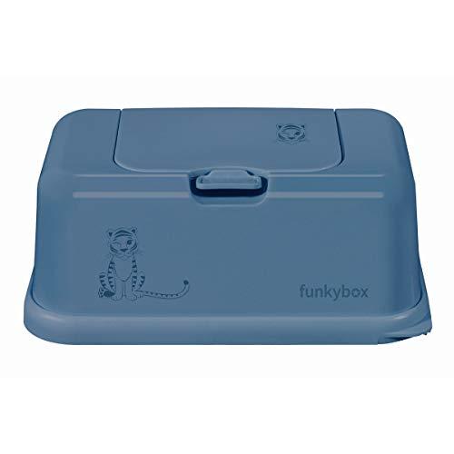Funky Box Azul Tigre - Estuches y dispensadores para toallitas, unisex