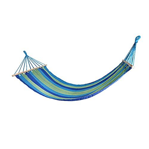 WJCRYPD Portatile Tessuto Tessuto Singola Persona Singola Mobili da Esterno Amaca Doppio Spreader Bar Amaca Amaca da Campeggio Swing Letto sospeso Portatile Hammock Qf Shop (Color : Blue)