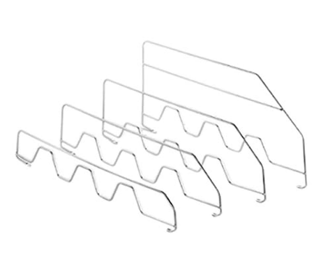 予報クラフトマトロンアズワン 3段可変スチール棚セット用鉄線仕切り H5cm D35cm用/61-7190-42