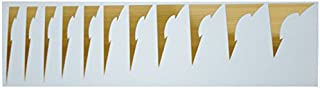 Guitar Extreme Shark Fin I Frets Inlay Decal sticker Gold