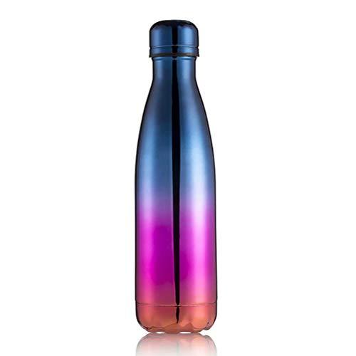 Bouteille d'eau Isotherme 500ml Gourde INOX Reutilisable pour Maintien Chaud de 12 Heures Inoxydable d'eau pour l'eau ou Le