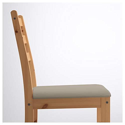 DiscountSeller LERHAMN Stuhl, hell, antiker Beige, 42 x 49 x 85 cm, strapazierfähig und pflegeleicht, Polsterstühle, Esszimmerstühle, Stühle, Möbel, umweltfreundlich