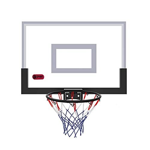 Aro de Baloncesto Mini aro de Baloncesto portátil, Aro de Baloncesto montado en la Pared para niños y Adultos, Can Dunk, para Dormitorio de Oficina en casa (Tamaño: 45,5x30,5 cm)