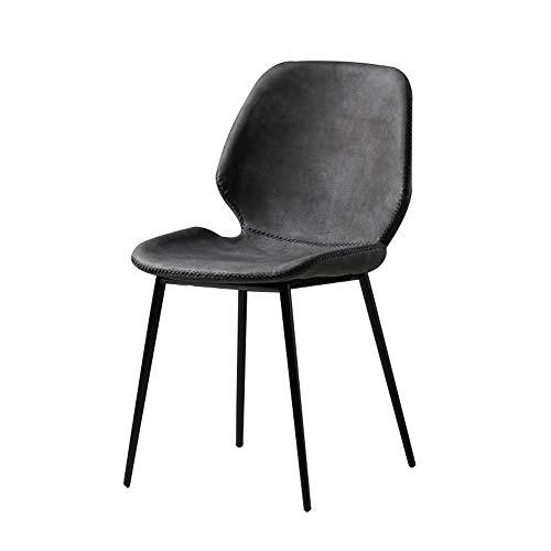 Moderner einfacher Esszimmerstuhl Iron Art Cafe Stuhl Barstuhl Home Desk Chair Loungesessel 46 * 43 * 81cm