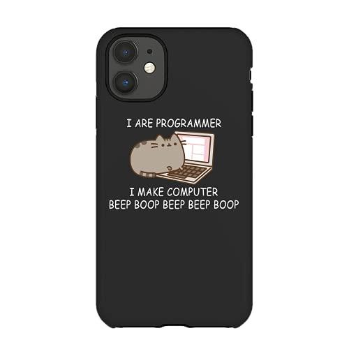 I are Programmer I Make Computer Beep Boop Beep Beep Boop Coder Black Phone Case Cases Custom 7008
