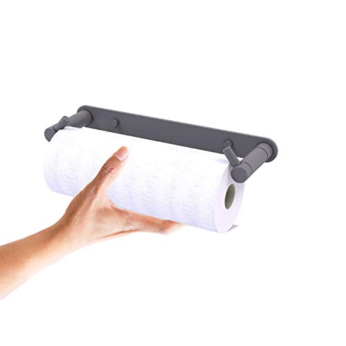 Allied Brass Fresno Collection Wall Mounted Rollerless Paper Towel Holder Toallero de Papel, Gris Mate