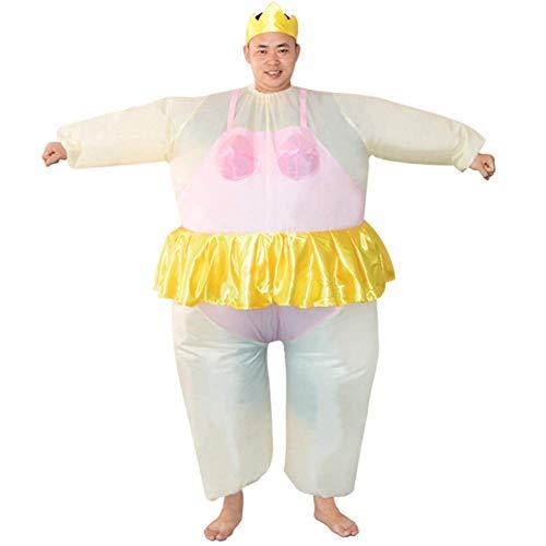 DJLOOKK Halloween Kostüm für Frauen Aufblasbare Ballerina Kostüm Aufblasbare Party Tanz Kostüm Fett Anzug Hirsch Henne Nacht Outfit,Rosa