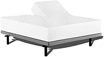 Split Head Mattress Protector for Adjustable or Half Split Beds, 100% Waterproof Terry Cotton - Fitted Sheet Style Flex Top Mattress Cover - 18