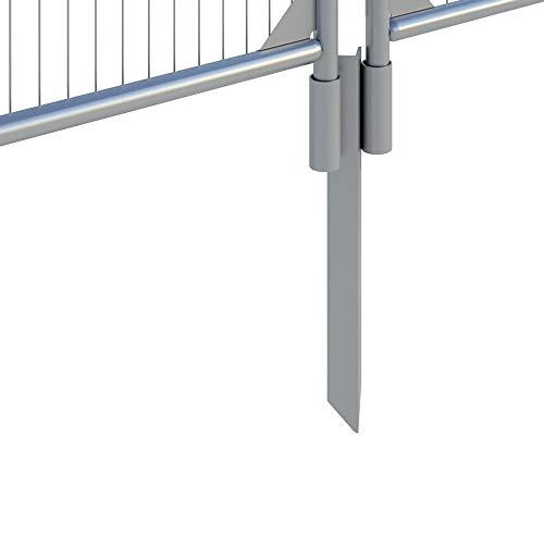 Systafex® Bauzaun Erdhülse Bodenhülse Halterung für Mobilzaun Baustellenzaun Absperrzaun verzinkt