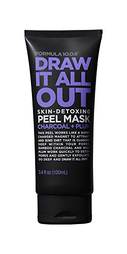 FORMULA 10.0.6 Six Draw It All Out Skin-Detoxing Charcoal + Plum Peel Mask 3.4 fl oz