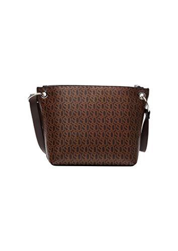 s.Oliver Damen Shoulder Bag mit Label-Print brown 1