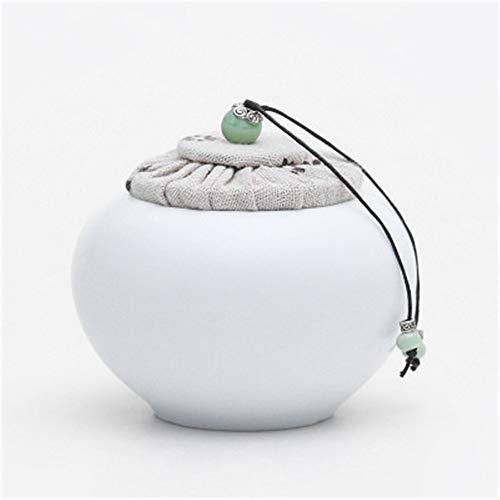 TLZD Keramik Vorratsbehälter für Lebensmittel Aufbewahrung wie Kaffeebohnen, Nüsse, Müsli, Kekse, Konfekt, etc. Keramik Töpfe können auch für Home Dekoration, Küche Dekoration, B, 2.5inch×3.5inch