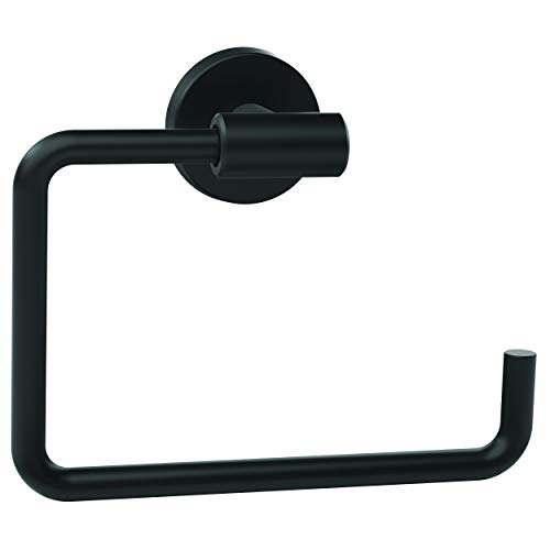 Amerock Arrondi 6-7/16 in (164 mm) Length Towel Ring in Matte Black - 1 Pack