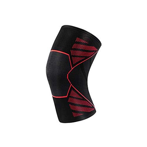 SSN 1 PC elástico Rodilleras Gimnasia de los Deportes Engranaje de la Aptitud de Nylon Almohadillas de Rodilla de Running Baloncesto Voleibol Soporte Protector (Color : Rojo, Size : XL)