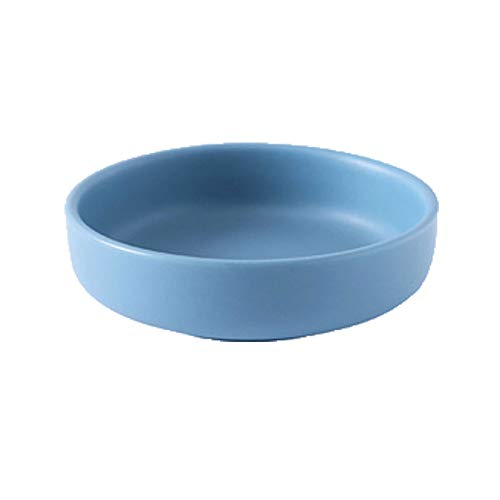 Sauce Serving Dish Dipping Bowls Set of 10pcs Round Ceramics Snack Serving Dishes Good for Home Kitchen Multipurpose Side Dish Bowls 4 Colors to Choose Seasoning Dish (Color : Blue)