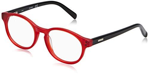 Guess Unisex-Erwachsene GU9160 067 45 Brillengestelle, Rot (Rosso Opaco)