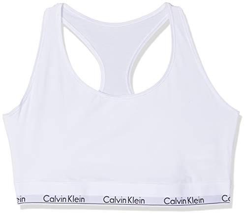 Calvin Klein Damen Unlined Bralette, Weiß (White 100), (Herstellergröße: 1XL)