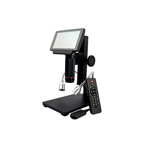 Microscopio USB digital con zoom de aumento 10X-560X, a todo color de 5 pulgadas, filtro UV, luz LED ajustable, almacenamiento Micro-SD, cámara de video, compatible con Windows 7 8 10