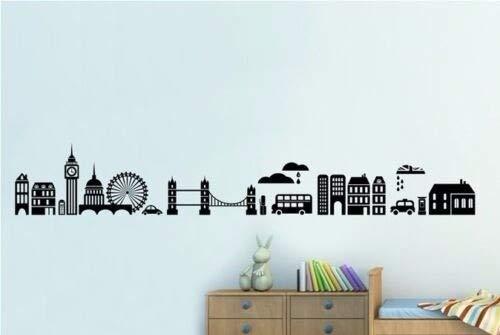 AKmene Londres, Inglaterra, Paisaje Pegatinas de Pared decoración del hogar 58x10cm 58x10cm