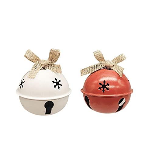 unknowns 1 Paio di campanelli Natalizi, ciondoli per pomelli Vintage, Campane di Natale, Ornamenti per L'Albero di Natale, Decorazioni Natalizie - Diametro: 8 mm