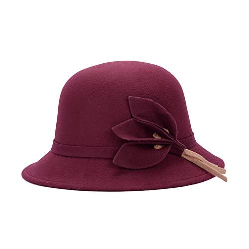 Sombreros Mujer Vintage Sombrero De Fieltro Elegante