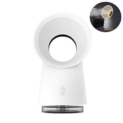 TANSHOP Ventilador de escritorio 3 en 1 Bladness USB con luz LED Humidificador de niebla de enfriamiento Nightligth (ventilador de spray con luz)