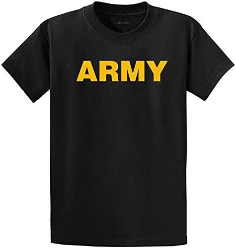 Joe's USA - Camisetas de algodón de peso pesado con gráfico personalizado en regular, grande y alto