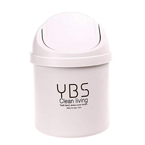 Yihaifu Desktop-Shake-Abdeckung kann Papierkorb und Abdeckung Kleinen Papierkorb Schutt Lagerung Reinigung Mülleimer Trash