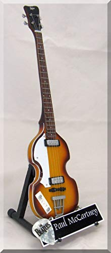 PAUL McCARTNEY Miniatur Gitarre Hofner Bass mit Plektrum