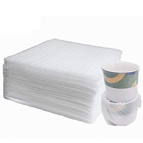 ANKKY 100Stk Schaumfolie Verpackungsmaterial Luftpolsterfolie Umzugsmaterial für Kartons Umzug Geschirr Gläser Weinflaschen Versand(330 x 330x 1mm)