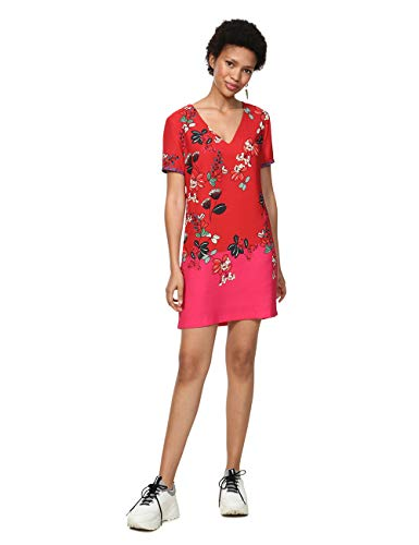 Desigual 19SWVWA1 - Robe - Femme - Rouge (Salmon Palido 3015) - 40