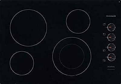 Frigidaire FFEC3025UB 30 Inch Electric Smoothtop Style Cooktop with 4 Elements in Black