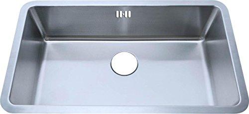 Große Unterbauspülbecken Küchenspüle aus gebürstet Edelstahl 793x461mm (A04 bs)