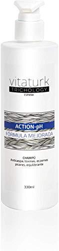 Vitaturk - Champú ACTION PH anticaída para desequilibrios del Ph. Picores, rojeces, caspa grasa. Sanea el cuero cabelludo de agentes patógenos | FABRICADO EN ESPAÑA |