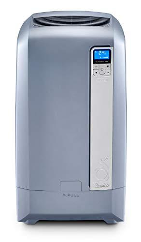 De Longhi PAC WE128Eco Silent Climatiseur mobile (Eau de technologie de l'air, max. Puissance de refroidissement 3,2kW/12500BTU/h, fonction de déshumidification séparée Convient pour pièces jusqu'à 110m³) [Classe énergétique EEK A +]