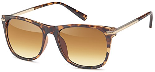 FEINZWIRN Vintage Sonnenbrille mit Metallbügel (braun)