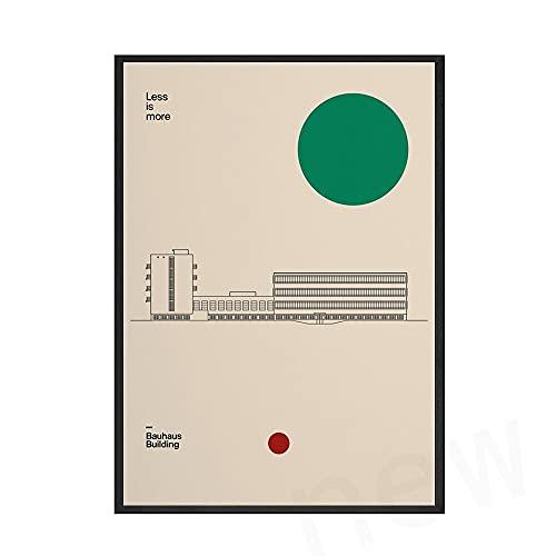 Carteles e impresiones geométricos abstractos nórdicos, cuadros de arte de pared únicos de Bauhaus, pinturas de lienzo sin marco familiares n. ° 3 20x30cm