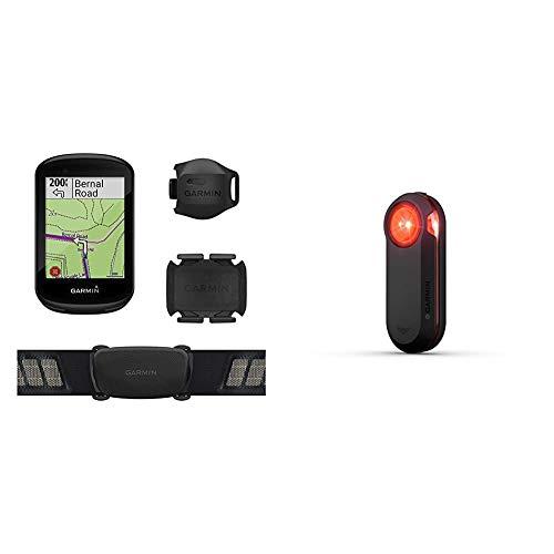 Garmin Edge 830 Sensor Bundle, Performance Touchscreen GPS Cycling/Bike Computer with Mapping & Varia RTL510, Bike/Cycling Radar Tail Light, Alerts for Rear-Approaching Vehicles