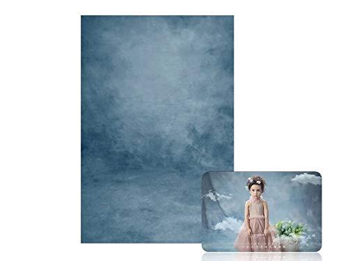 WaW Fondale Fotografico Azzurro Textured Telo Sfondo Fotografia Bambini Sfondi per Studio Ritratto Foto puntelli 2x2.9m